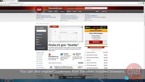 Скриншот программы Comodo Dragon для Windows 8.1