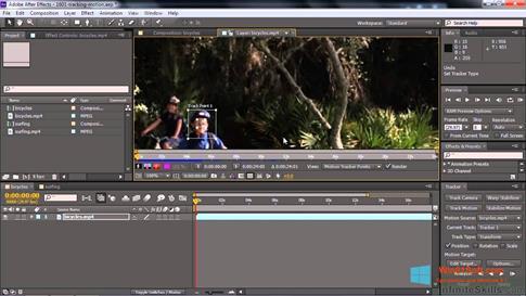 Скриншот программы Adobe After Effects CC для Windows 8.1