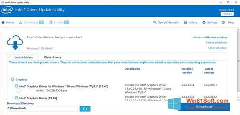 Скриншот программы Intel Driver Update Utility для Windows 8.1