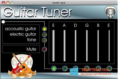 Скриншот программы Guitar Tuner для Windows 8.1