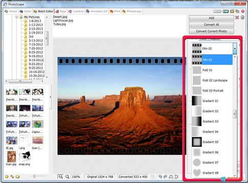 Скриншот программы Photoscape для Windows 8.1