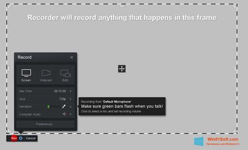 Скриншот программы Screencast-O-Matic для Windows 8.1