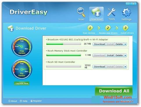 Скриншот программы Driver Easy для Windows 8.1