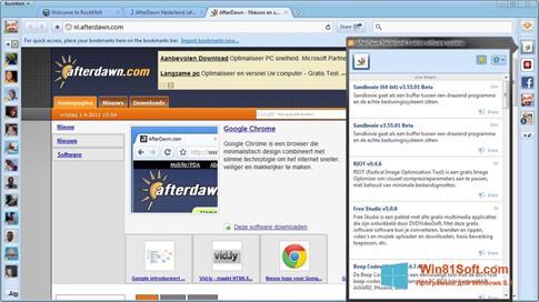 Скриншот программы RockMelt для Windows 8.1