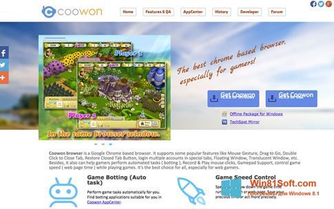 Скриншот программы Coowon Browser для Windows 8.1