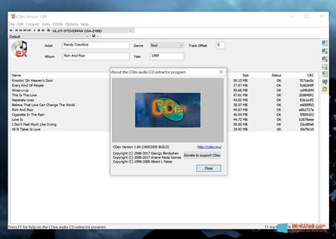 Скриншот программы CDex для Windows 8.1