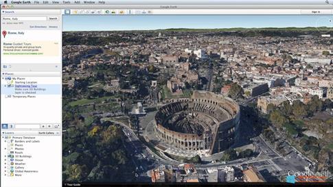Скриншот программы Google Earth для Windows 8.1