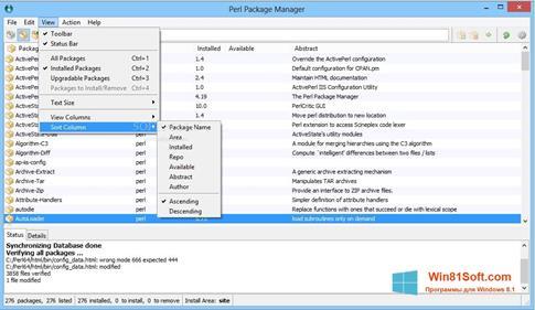 Скриншот программы ActivePerl для Windows 8.1