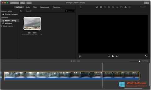 Скриншот программы iMovie для Windows 8.1
