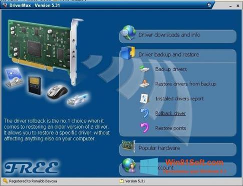 Скриншот программы Driver Cleaner для Windows 8.1