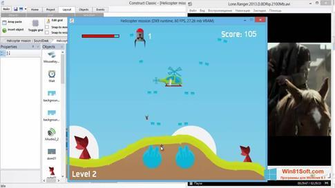 Скриншот программы Construct Classic для Windows 8.1
