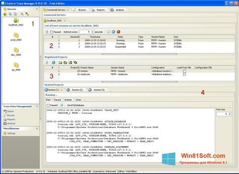 Скриншот программы Firebird для Windows 8.1