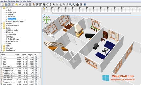Скриншот программы Sweet Home 3D для Windows 8.1