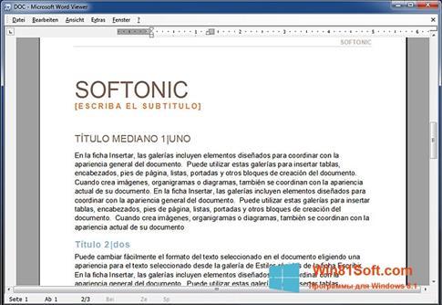 Скриншот программы Word Viewer для Windows 8.1
