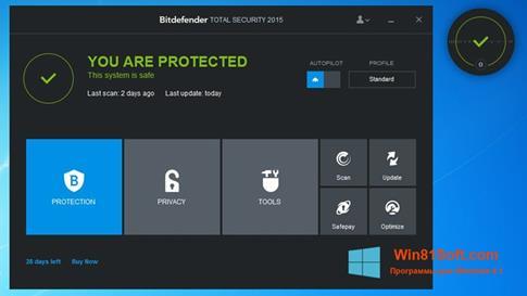 Скриншот программы Bitdefender для Windows 8.1