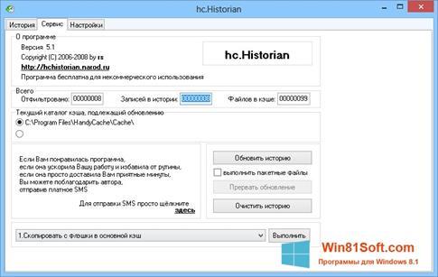 Скриншот программы HandyCache для Windows 8.1