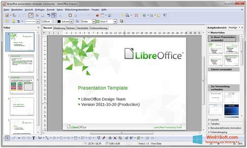 Скриншот программы LibreOffice для Windows 8.1