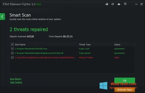 Скриншот программы IObit Malware Fighter для Windows 8.1