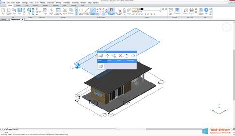 Скриншот программы Bricscad для Windows 8.1