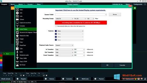 Скриншот программы vMix для Windows 8.1