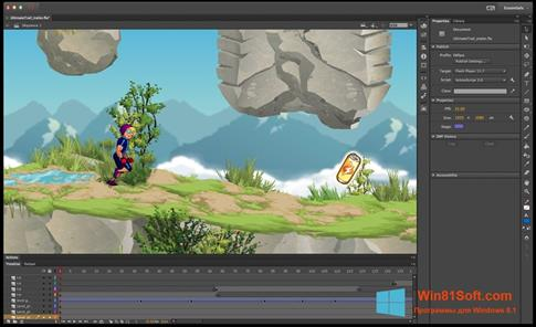 Скриншот программы Adobe Flash Professional для Windows 8.1