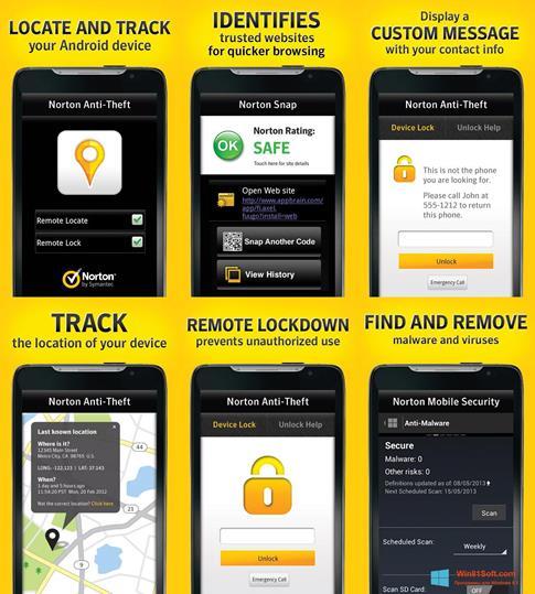Скриншот программы Norton Mobile Security для Windows 8.1
