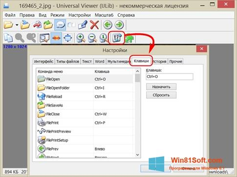 Скриншот программы Universal Viewer для Windows 8.1