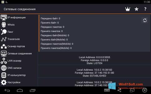 Скриншот программы IP Tools для Windows 8.1