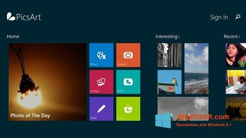 Скриншот программы PicsArt для Windows 8.1