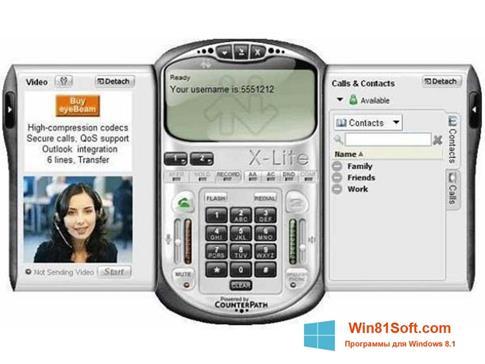 Скриншот программы X-Lite для Windows 8.1