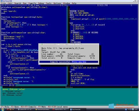 Скриншот программы Free Pascal для Windows 8.1
