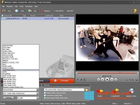 Скриншот программы Movavi Video Converter для Windows 8.1