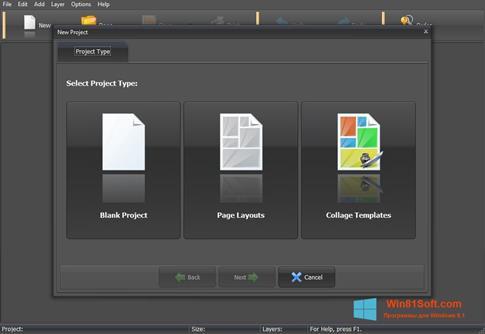 Скриншот программы PhotoMix Collage для Windows 8.1