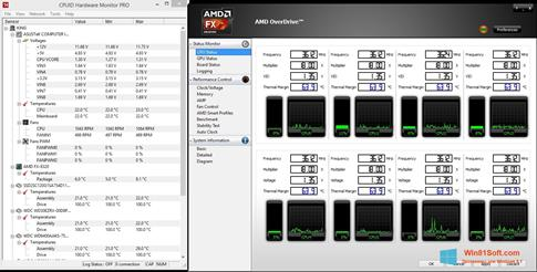 Скриншот программы AMD Overdrive для Windows 8.1