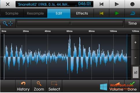 Скриншот программы NanoStudio для Windows 8.1
