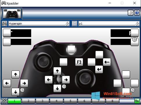 Скриншот программы Xpadder для Windows 8.1